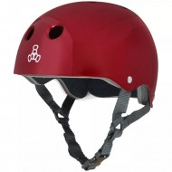 CAPACETE TRIPLE EIGHT RED METALLIC