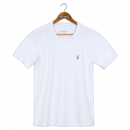 CAMISETA UNFORMAL ESSENTIAL BORDADO BRANCO