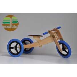 KIT BIKE INFANTIL WOODBIKE 3X1 - AZUL